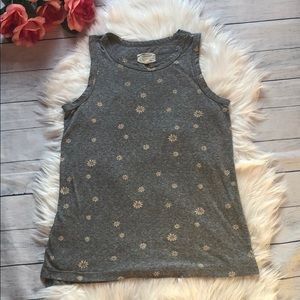 Current/Elliott Heather Gray Daisies Muscle Tee